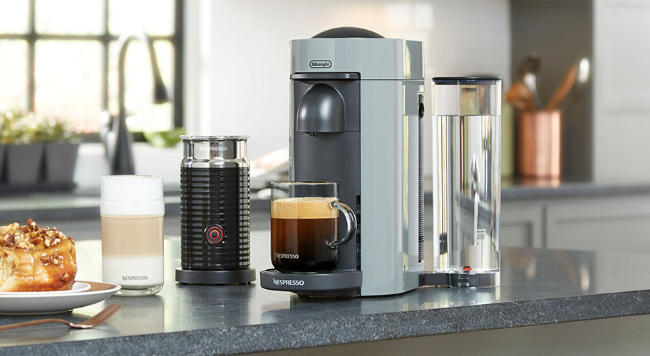 The perfect cup. Enjoy the latest in coffee making innovation with a Nespresso Vertuo system. Experience 5 different kinds of coffee & espresso drinks in the size you prefer, all in the comfort of your own home.