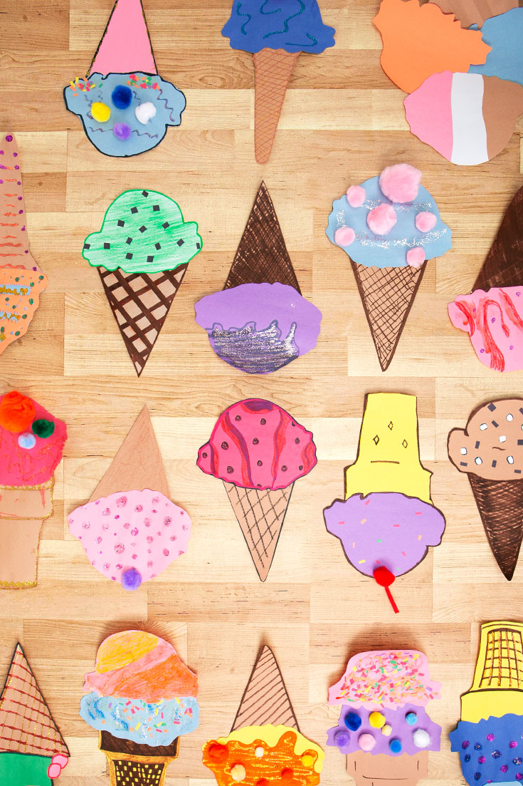 How To Make Cute Paper Ice Cream Cone Crafts Walmart