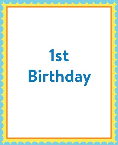 Download 1st Birthday Cake Catalog Section