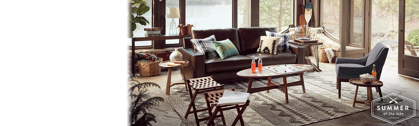 New Look Lakeside Escape Furnishings Decor That Bring Relaxed Rustic Charm To