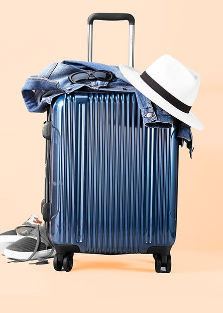 Pack your bags. Find everything you need for a getaway—toiletries, chargers & more.