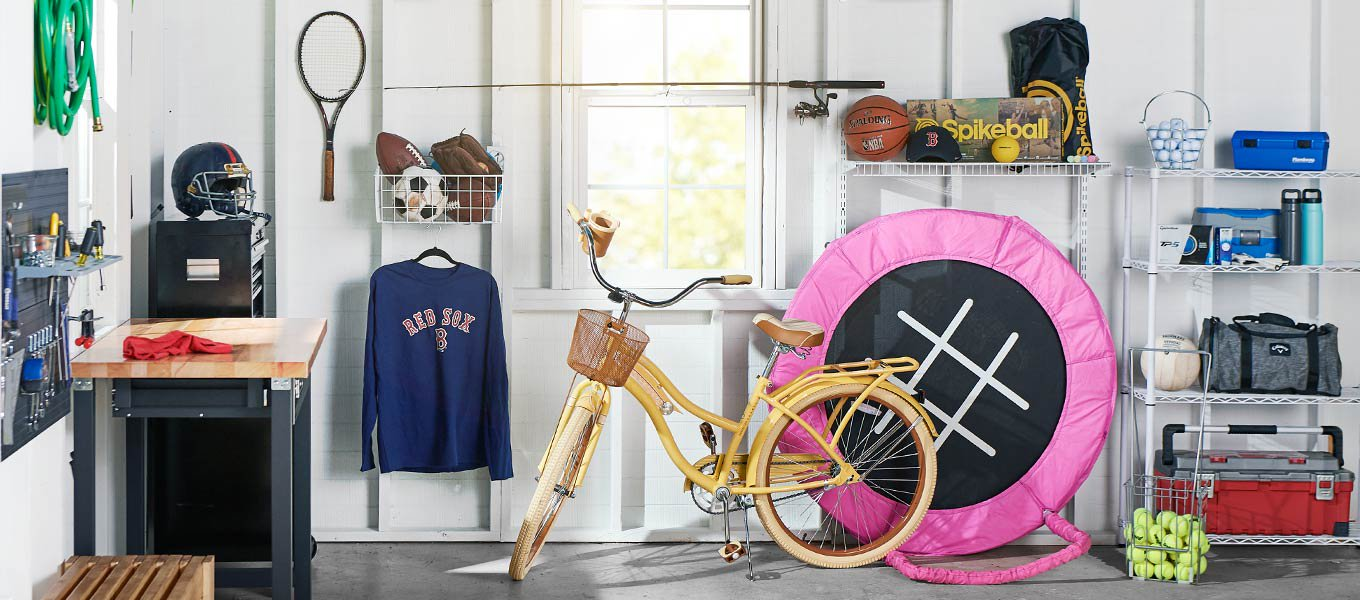 Make a clean sweep: Gear up your garage for seasonal sports.
