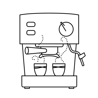 Illustration  of espresso machine