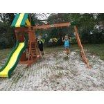 Backyard Discovery Weston Cedar Swing Set - Walmart.com
