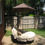 Mainstays Deluxe Orbit Chaise Lounge Umbrella Amp Side