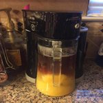 Mr. Coffee Tea Cafe 2-in-1 Black Iced Tea Maker with Glass ...