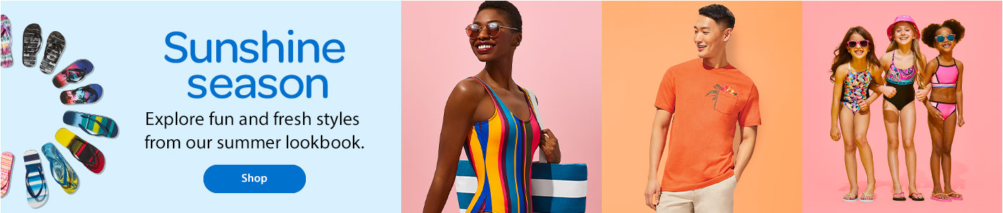 Sunshine season – Explore fun and fresh styles from our summer lookbook – Shop