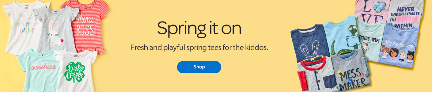 Spring it on - Fresh and playful spring tees for the kiddos - Shop
