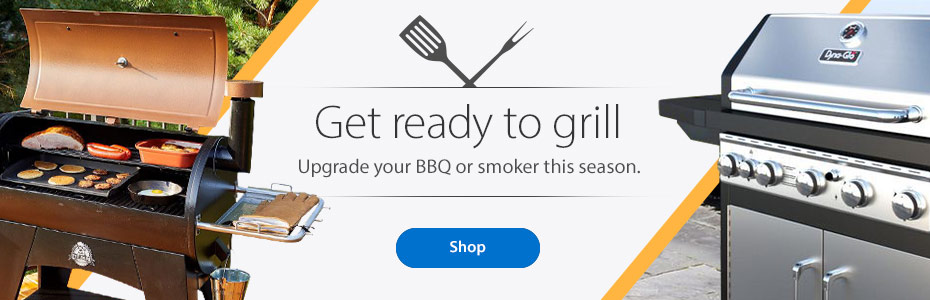 Get ready to grill - Upgrade your BBQ or smoker this season. - Shop