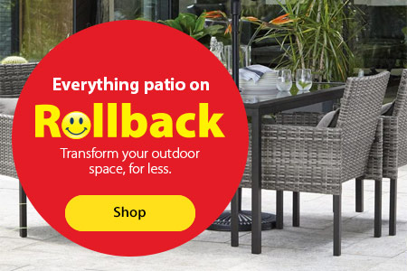 Everything patio on Rollback – Transform your outdoor space, for less. – Shop