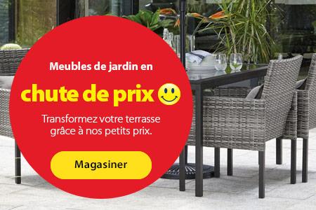 Meubles de jardin en chute de prix – Transformez votre terrasse grâce à nos petits prix. – Magasiner