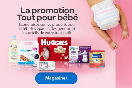 La promotion Tout pour bébé – Économisez sur tout pour tête, épaules, genoux, orteils! – Magasiner
