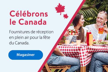 Célébrons le Canada - Fournitures de réception en plein air pour la fête du Canada. - Magasiner