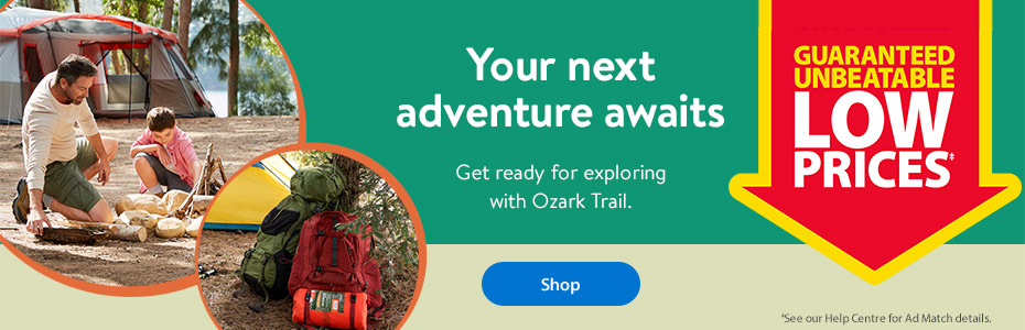 Your next adventure awaits – Get ready for exploring with Ozark Trail. Shop