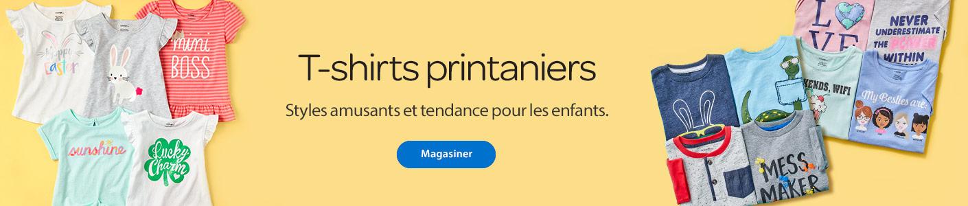 T-shirts printaniers - Styles amusants et tendance pour les enfants - Magasiner