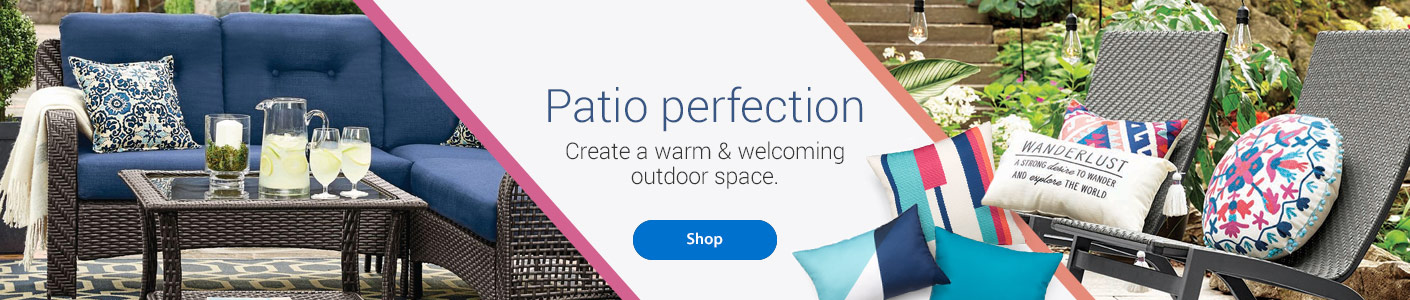 Patio Perfection - Create a warm & welcoming outdoor space - Shop